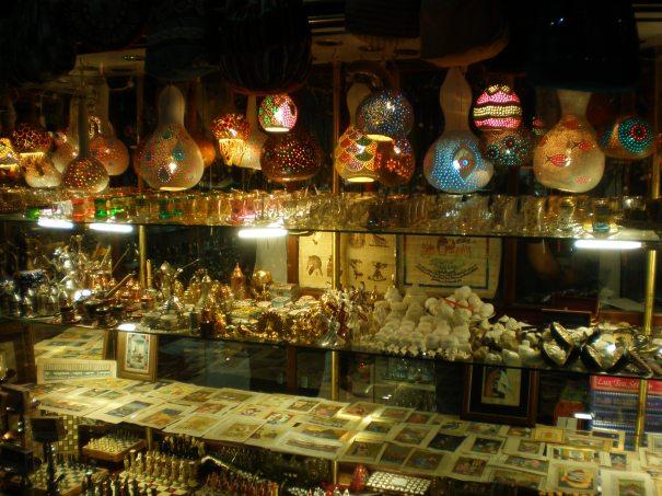 Gourds in shop window