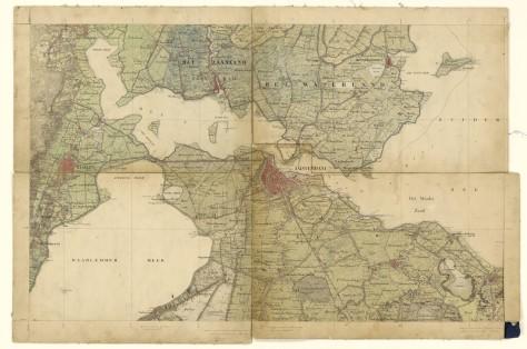 Map of Amsterdam 1850