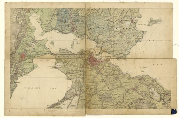 Map of Amsterdam 1850