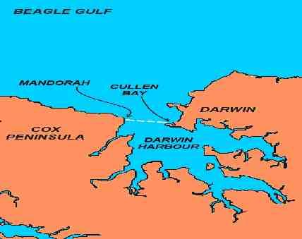 Map of Mandorah