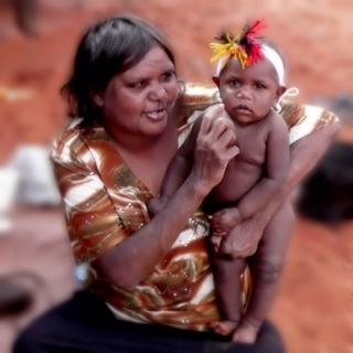 Minymaku (mother) and tjitji (child)