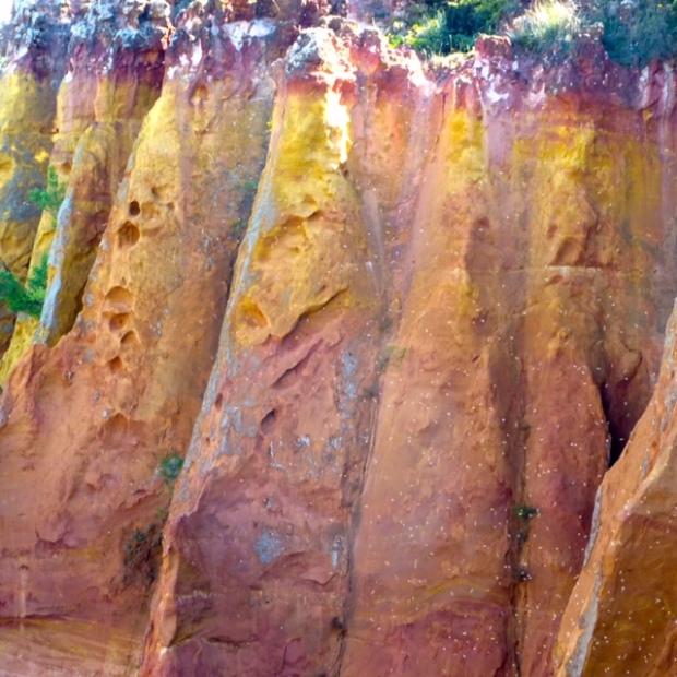 Ochre cliff