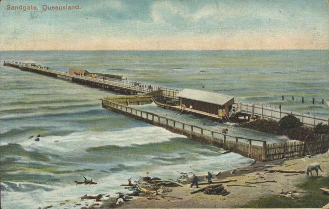 Sandgate beach and pier, Queensland Image credit: pictureqld.slq.qld.gov.au/