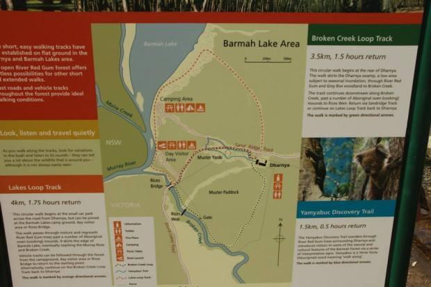 Map of Barmah lake area, Image Credit: www.facebook.com/YYNAC