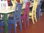 Coloured chairs