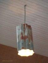 Corrugated iron light