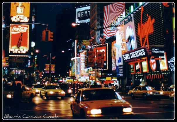 Image Credit: Alberto Carrasco Casado  Manhattan-Times square, US (1997) (analog photography) https://www.flickr.com/photos/albertocarrasco/6546098263/
