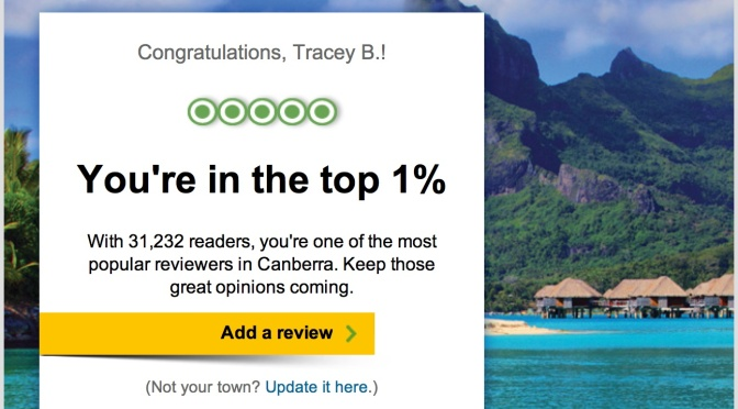 In the Top 1% of TripAdvisor