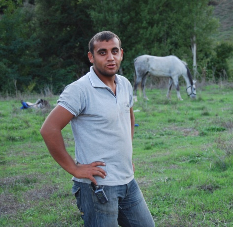 Sedat often stayed up all night feeding and taking care of the horses.