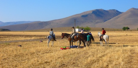 20 August: Riders eager to get going across the  Melendiz Foothills from Bağlama Camp