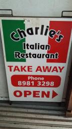 Sign from Charlie's