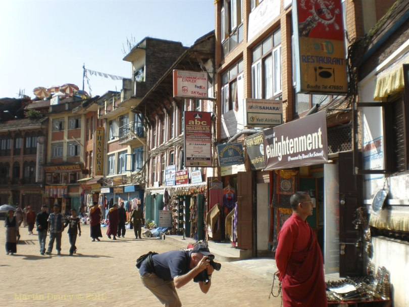 Image of street around around Boudhanath Stupa