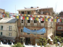 Image of building near Boudhanath Stupa
