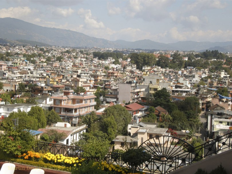 View of Katmandu from Hotel