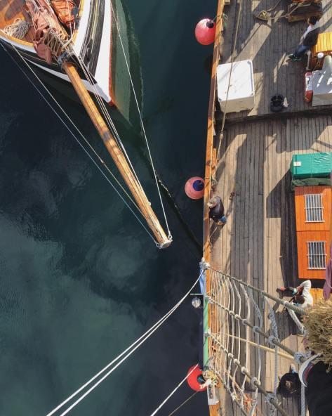 Westward Ho docks beside the Johana (Photo by Mhairi Law)